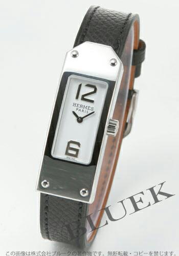 エルメス ケリーII レザー ブラック/ホワイト レディース KT1.210.130/UNO