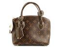 Louis Vuitton LOUIS VUITTON shiny Mono g Lockit BB handbags dark brown M40599