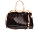 Louis Vuitton LOUIS VUITTON モノグラムヴェルニ Brea MM handbag Amarante M91619