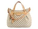 Louis Vuitton LOUIS VUITTON Damier Azur イーヴォラ GM handbag white N41134