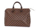 35 Louis Vuitton LOUIS VUITTON ダミエスピーディ handbag dark brown N41523