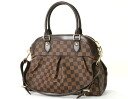 Louis Vuitton LOUIS VUITTON Damier Trevi PM handbag dark brown N51997