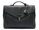 ボッテガヴェネタ BOTTEGA VENETA calf-leather business bag black 113095