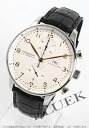 IWC Portuguese chronograph with crocodile leather black / white men's IW371401