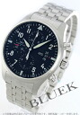 IWC pilot's watch Chrono automatic black mens IW377704