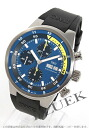 IWC aquatimer chronograph Cousteau divers rubber black / blue mens IW378203