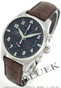 IWC pilot's watch Chrono-automatic alligator Leather Brown / grey mens IW387802