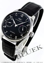 IWC Portuguese automatic 7 days alligator leather black mens IW500109