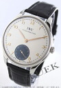 IWC Portuguese hand winding small second alligator leather Black/Silver & gray mens IW545405