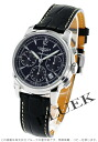 Jin Ron Mie Santi automatic chronograph alligator leather black men L2.752.4.52.4 watch clock
