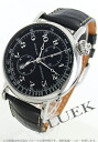 Longines heritage アヴィゲーション automatic chronograph with crocodile leather black mens L2.779.4.53.0