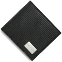 Bulgari BVLGARI millerighe calf leather 2 fold wallet black 25541