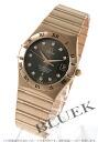 1103.60 オメガコンステレーション RG pure gold diamond index chronometer brown men