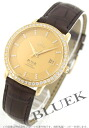 Omega-Devil prestige YG pure gold diamond coaxial leather brown / gold men's 413.58.37.20.58.001