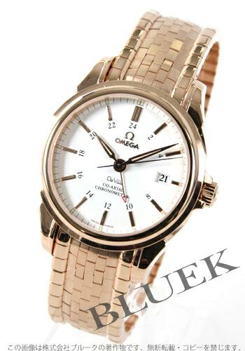 オメガ デビル コーアクシャル 4151.20 RG金無垢 GMT クロノメーター ホワイト メンズ