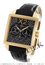 Omega-Devil Byzantium chronograph RG pure gold leather dark brown & Black mens 423.53.37.50.01.001