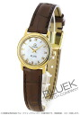 4670.71.02 omega devil prestige YG pure gold leather brown / white shell Lady's mini