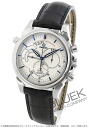Omega-Devil co-axial Rattrapante 4847.30.31 alligator leather black / white men's