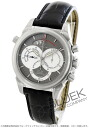 Omega-Devil co-axial Rattrapante 4848.40.31 chronograph leather black & silver mens