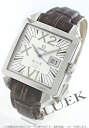 Men's Omega-Devil X2 big date 7813.30.39 chronometer crocodile leather dark brown / white