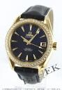 Omega OMEGA Seamaster Aqua Terra diamond pure gold alligator leather ladies 231.58.39.21.51.002 watch clock