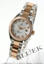Rakuten Japan sale ★ Omega Seamaster Aqua Terra 2365.75 diamond automatic RG duo white shell ladies 4