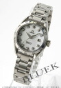 2564.75 omega Cima star aqua terra diamond automatic white shell Lady's