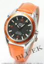 Omega Seamaster Planet Ocean 45 mm 2908.50.38 co-axial chronometer alligator leather orange / black men's
