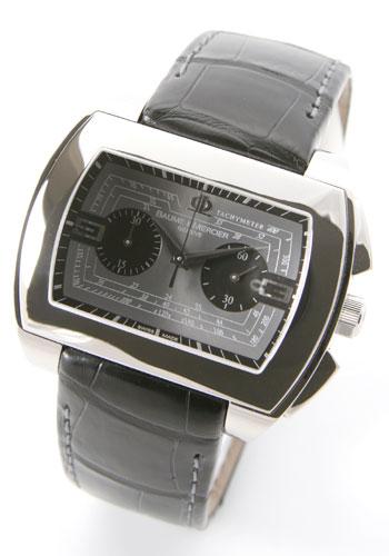 ボーム&メルシェ ハンプトン クロノグラフ レザー ブラック/グレー メンズ MOA08345