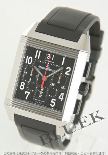 ジャガールクルト レベルソ スクアドラ GMT クロノグラフ ラバー ブラック メンズ Q7018420