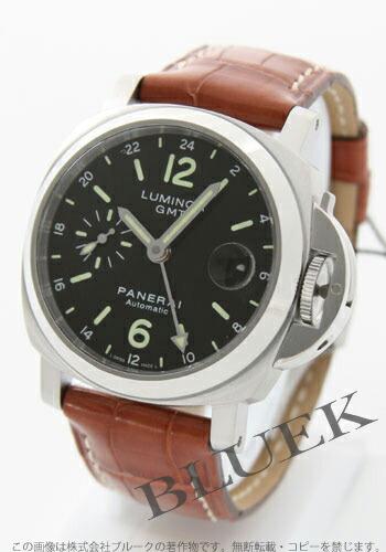 パネライ ルミノール GMT 40mm クロコレザー ブラウン/ブラック メンズ PAM00244