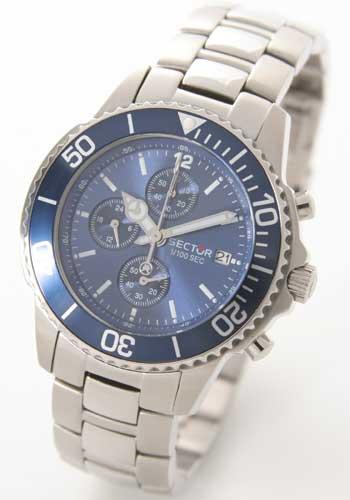 セクター 200 クロノグラフ ブルー メンズ B3.200C.165