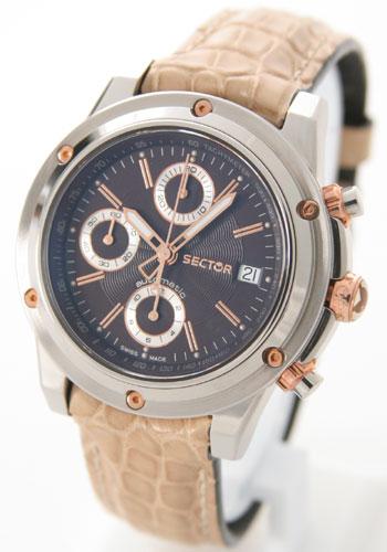 セクター 850 クロノグラフ クロコレザー ベージュ/ブラウン メンズ D1.850C.015