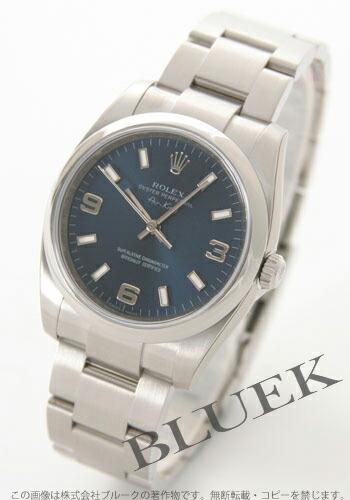 ロレックス Ref.114200 エアキング ブルー アラビア メンズ