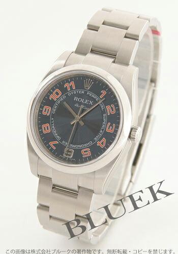 ロレックス Ref.114200 エアキング ブルー(コンセントリック) アラビア メンズ