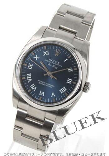 ロレックス Ref.114200 エアキング ブルー ローマン メンズ