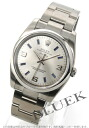 Rolex Ref.114200 Air-King Watch Silver Arabic blue mens