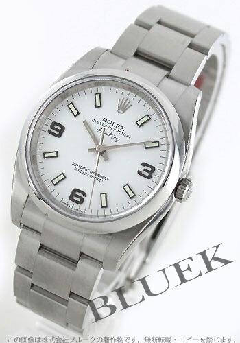 ロレックス Ref.114200 エアキング ホワイト アラビア メンズ