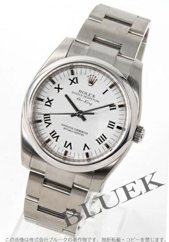ロレックス Ref.114200 エアキング ホワイト ローマン メンズ