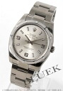 Silver エンジンターンドベゼル Arabic men's Rolex Ref.114210 Air-King