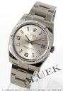 Silver エンジンターンドベゼル Arabic men's Rolex Ref.114210 Air-King