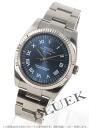 Rolex Ref.114234 Air-King watch WG bezel blue Roman men