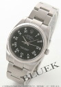 Rolex Ref.114234 Air-King Diamond index WG bezel Black Roman men's