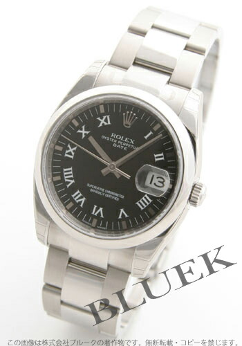 ロレックス Ref.115200 オイスターパーペチュアル デイト ブラック ローマン メンズ