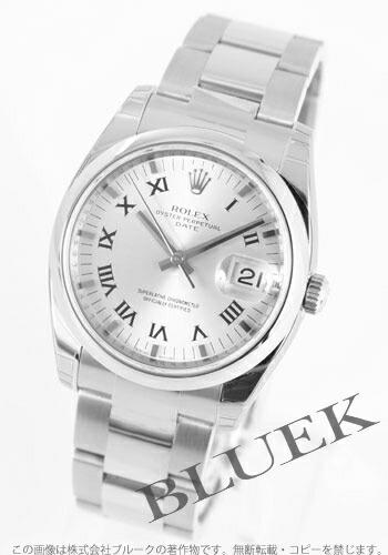ロレックス Ref.115200 オイスターパーペチュアル デイト シルバー ローマン メンズ