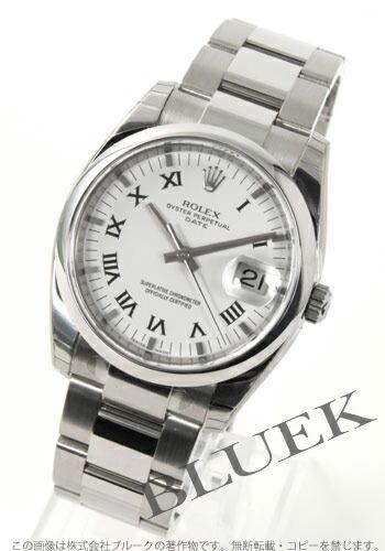 ロレックス Ref.115200 オイスターパーペチュアル デイト ホワイト ローマン メンズ