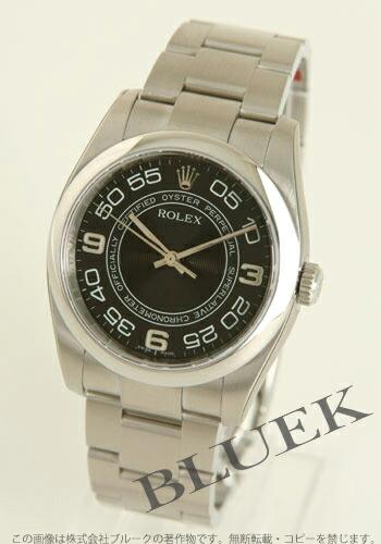 ロレックス Ref.116000 オイスターパーペチュアル ブラック(コンセントリック) アラビア メンズ