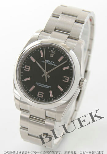 ロレックス Ref.116000 オイスターパーペチュアル ブラック ピンクアラビア メンズ