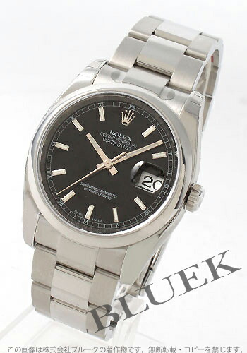 ロレックス Ref.116200 デイトジャスト ブラック メンズ