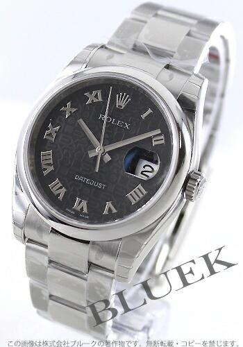 ロレックス Ref.116200 デイトジャスト ブラック(ホリコンピューター) ローマン メンズ